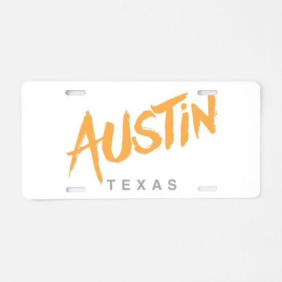 Austin Texas Aluminum License Plate