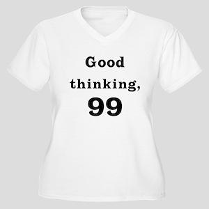 Good Thinking 99 Women's Plus Size V-Neck T-Shirt