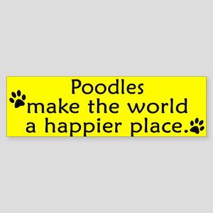 Happy Place Poodle Bumper Sticker