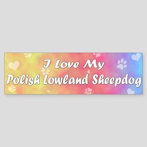 Pastel Love Polish Lowland Sheepdog Bumper Sticker
