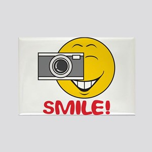 Photographer Smiley Face Rectangle Magnet