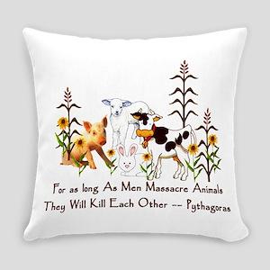Pythagoras Vegetarian Quote Everyday Pillow