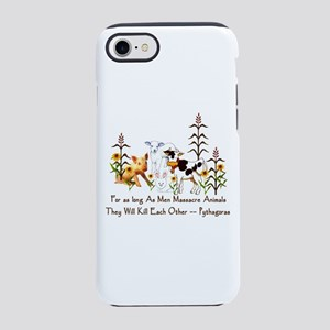 Pythagoras Vegetarian Quote iPhone 8/7 Tough Case