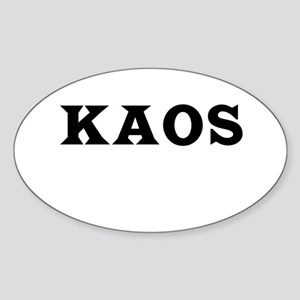 KAOS Oval Sticker