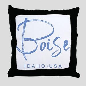 Boise Idaho Throw Pillow