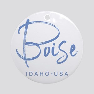 Boise Idaho Round Ornament
