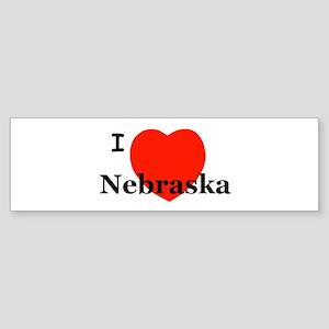 I Love Nebraska Bumper Sticker
