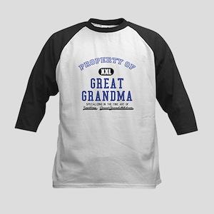 Property of Great Grandma Kids Baseball Jersey