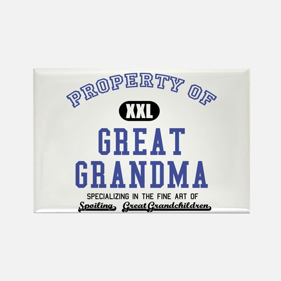 Property of Great Grandma Rectangle Magnet