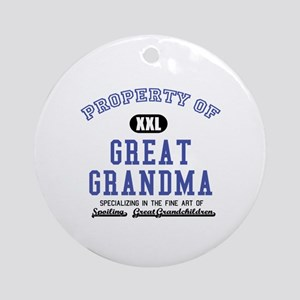 Property of Great Grandma Ornament (Round)