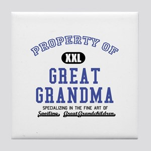 Property of Great Grandma Tile Coaster