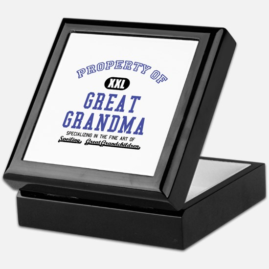 Property of Great Grandma Keepsake Box