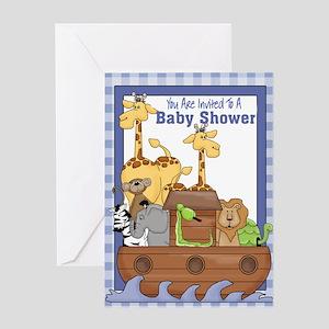 Noah's Ark Baby Shower Invitations (Blue)