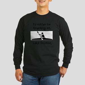 Kayaking Long Sleeve Dark T-Shirt