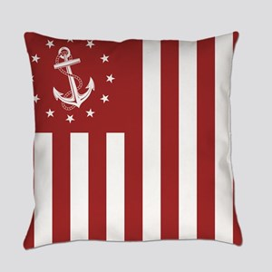 Nautical Anchor Flag Everyday Pillow