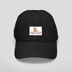 Everything's Rosy Kitty Cat Black Cap