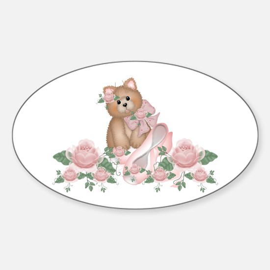 Everything's Rosy Kitty Cat Oval Decal