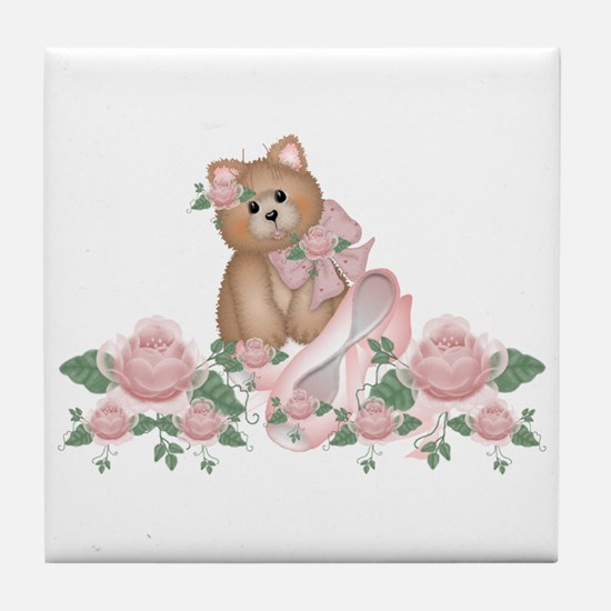 Everything's Rosy Kitty Cat Tile Coaster