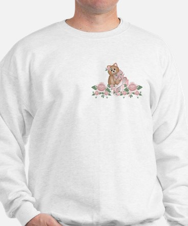 Everything's Rosy Kitty Cat Sweatshirt