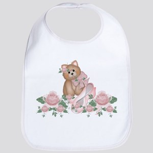 Everything's Rosy Kitty Cat Bib
