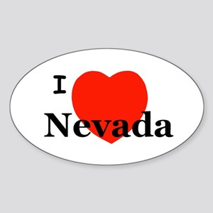 I Love Nevada Oval Sticker