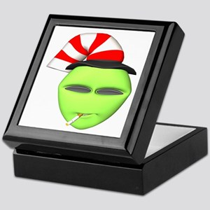 Smoking Alien with Hat Keepsake Box
