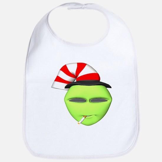 Smoking Alien with Hat Bib