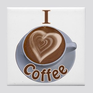 I Heart Coffee Tile Coaster