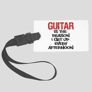 Guitar Reason I Get Up Luggage Tag