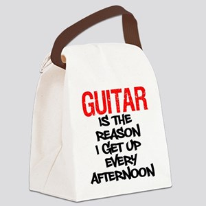 Guitar Reason I Get Up Canvas Lunch Bag