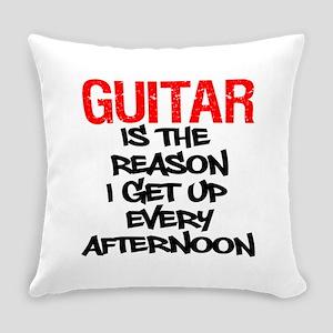 Guitar Reason I Get Up Everyday Pillow
