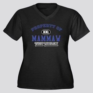 Property of Mammaw Women's Plus Size V-Neck Dark T