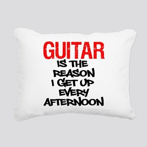 Guitar Reason I Get Up Rectangular Canvas Pillow