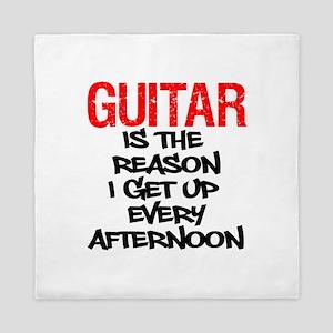 Guitar Reason I Get Up Queen Duvet