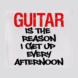 Guitar Reason I Get Up Throw Blanket
