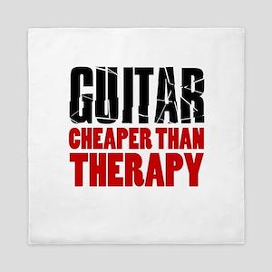 Guitar Cheaper Than Therapy Queen Duvet
