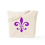 Fleur De Lis Purple Tote Bag