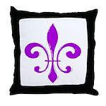 Fleur De Lis Purple Throw Pillow