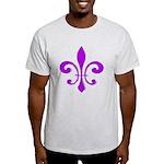 Fleur De Lis Purple Light T-Shirt