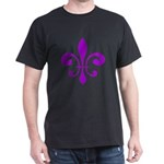 Fleur De Lis Purple Dark T-Shirt