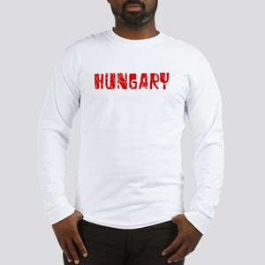 Hungary Faded (Red) Long Sleeve T-Shirt
