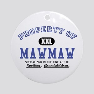 Property of MawMaw Ornament (Round)