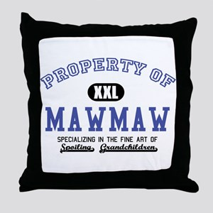 Property of MawMaw Throw Pillow