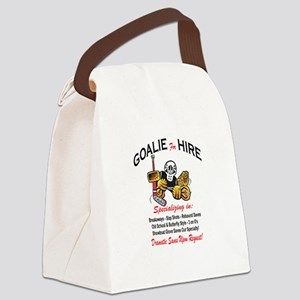 Goalie for Hire Canvas Lunch Bag