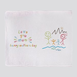 Mother's day Mug Throw Blanket