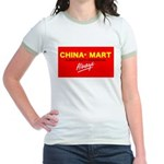 Boycott China-Mart Jr. Ringer T-Shirt
