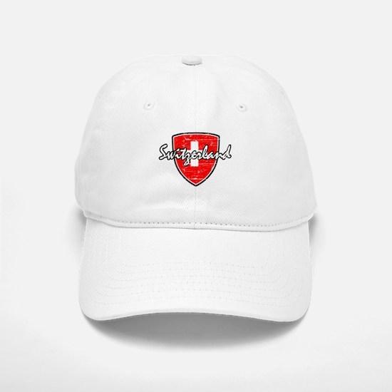 Switzerland distressed flag Baseball Baseball Cap