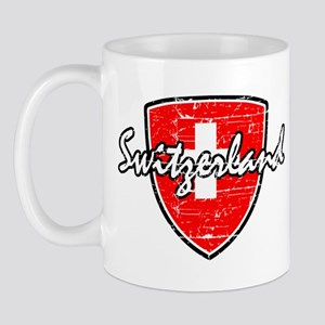 Switzerland distressed flag Mug