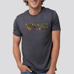 Vegan Vegetables Mens Tri-blend T-Shirt
