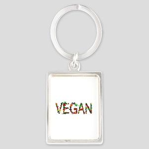Vegan Vegetables Portrait Keychain